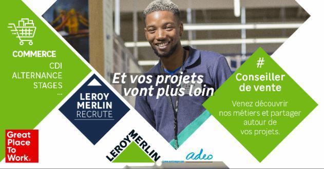 LEROY MERLIN recrutement - toutes les offres disponibles